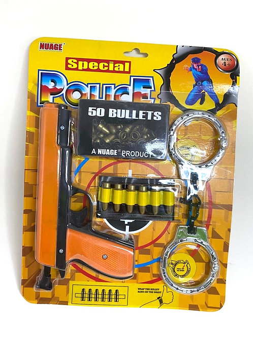 Special police officer pretend role play kit play set with gun