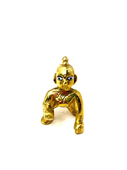 Brass laddu gopal /baby krishna ( 5cm ) (0size)