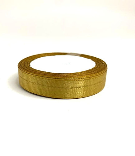 Satin ribbon ( light copper colour  ) (1/2 inch thick , 10m length)