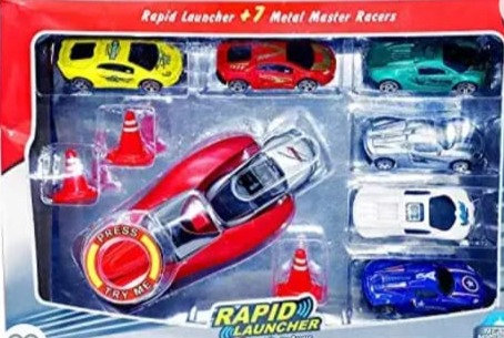 Rapid high speed launcher play set toy