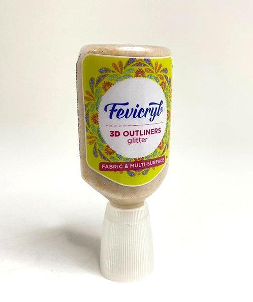 Fevicryl 3D outliner ( glitter golden, 20 ml )