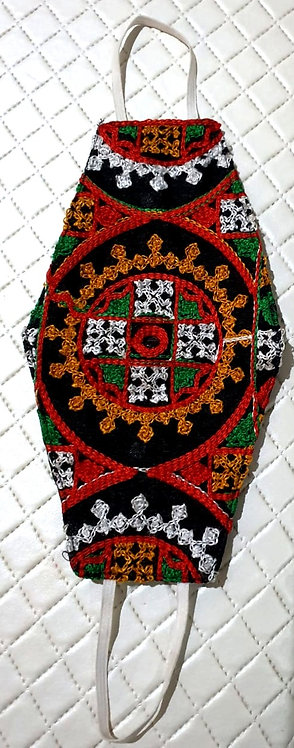 Designer Mask with sindhi embroidery