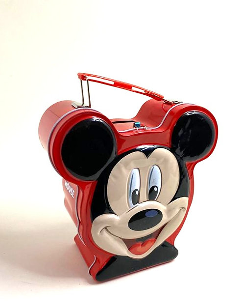Mickey Mouse Cartoon Metal Piggy Bank /Coin Box ( Red )