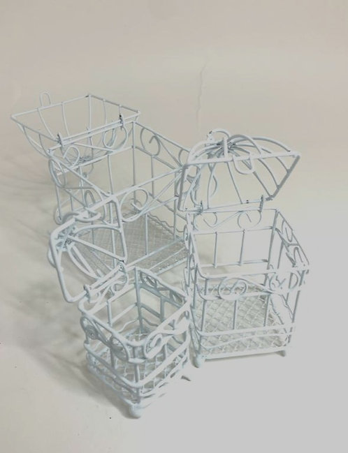 Decorative Miniature Cage (set of 3 ) (small size )