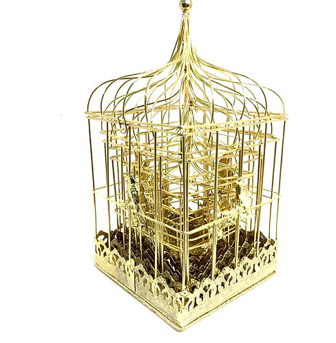 Decorative Golden Cage (set of 6 )