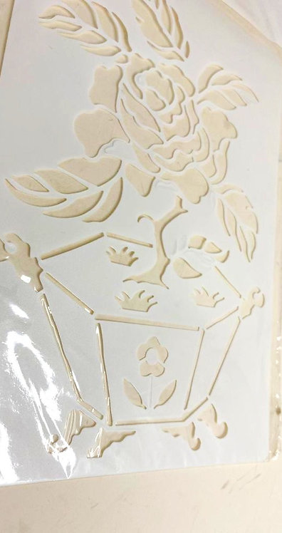 Template Stencil Painting On Cloths & Different Surface (8x6 )