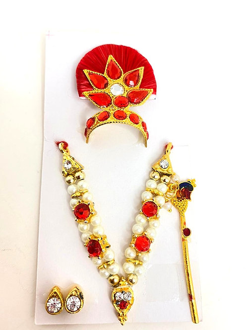Mukut mala shringar set for kanha ji