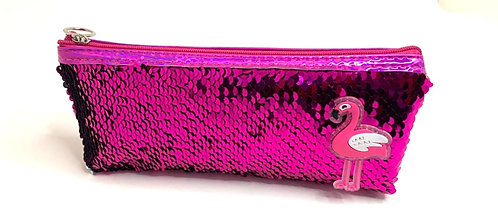 Flamingo Pink Themed Pencil Pouch