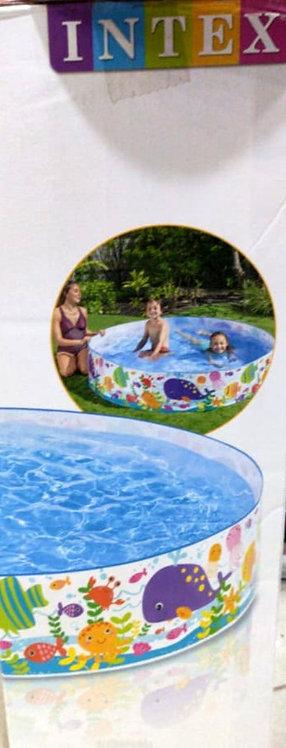 INTEX inflatable snapset pool, multi colour ( 6 feet )