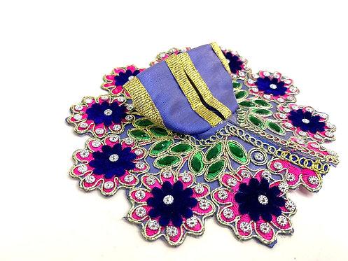 Stone work pink,blue  colour krishna poshak