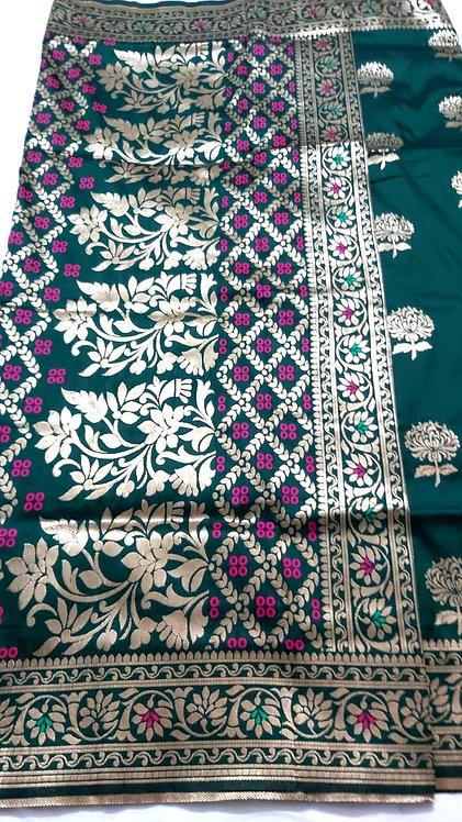Banarsi Silk Saree with zari work  ( with blouse )
