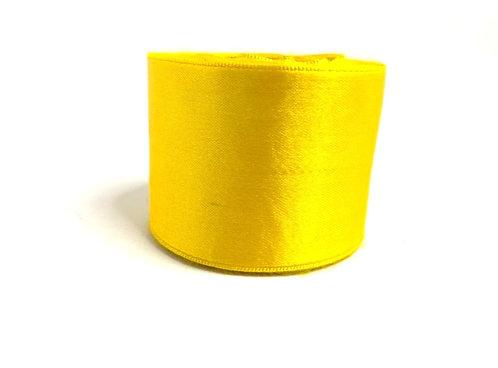 Saitn ribbon ( yellow colour ) (2 inch thick,10 mtr lenth )