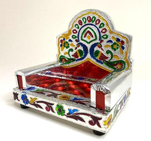Meenakari Singhasan / Bal Gopal Singhasan  (10x8x10cm)
