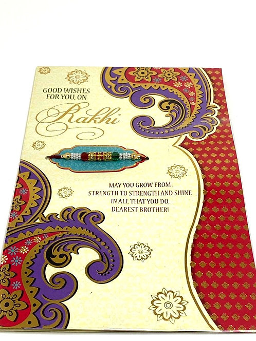 Rakhi Greeting Card With Rakhi