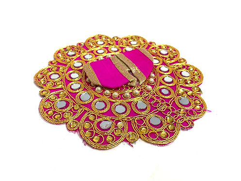 Mirror work pink  colour ,krishna poshak /laddu gopal