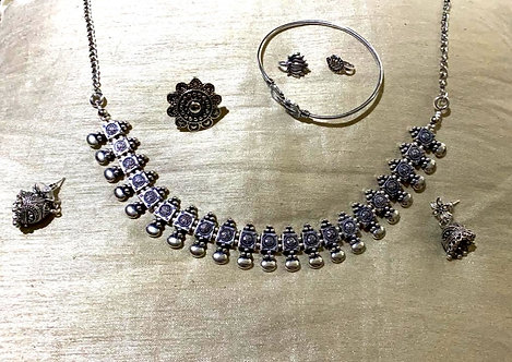 oxidized necklace set  for women