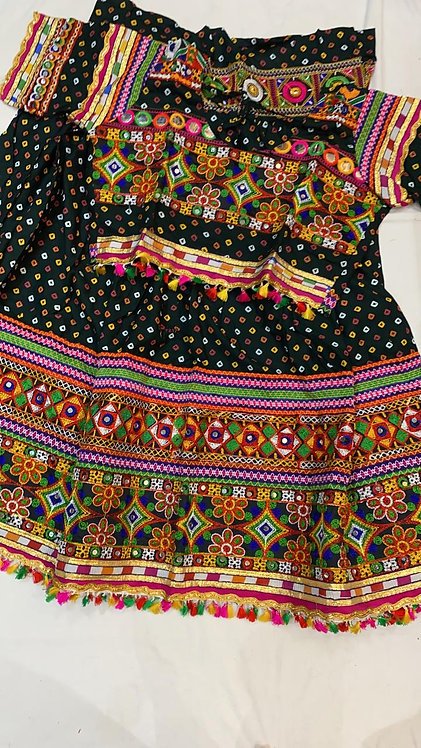 Rayon cloth heavy work,mirror work chaniya choli