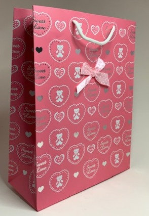 Pink Designed Paper Bag