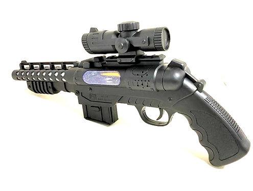Electric Music Gun, Red Laser Light Toy Gun