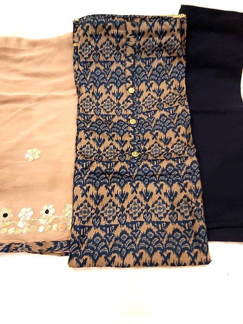pure cotton dress material gotta patti work on dupatta