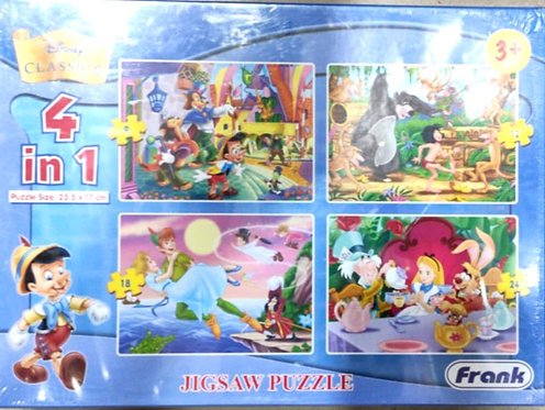 DISNEY jigsaw puzzle 4 in 1 ( age 3+)( 18 pcs )