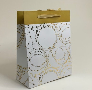 Golden and Brown Paper Bag