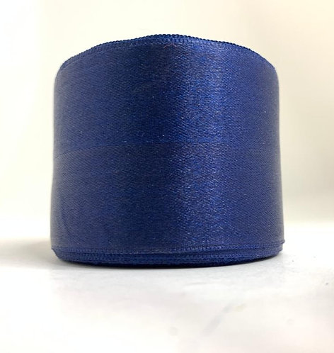 Satin Ribbon (navy blue  colour ) (2 inch thick ,10m length)