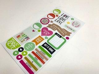 Sticker for scrap book