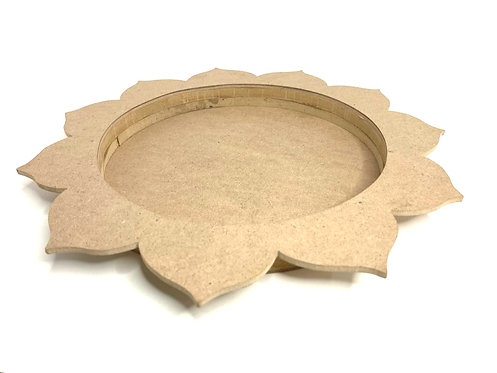 Self Decorative Wooden Puja Tray