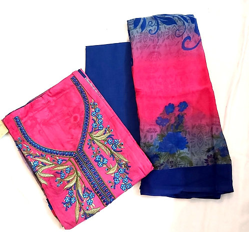 Pure Cotton Dress Material With Georgette Dupatta