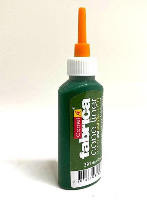CAMLIN fabrica 3D cone liner  acrylic colour ( sap green, 20 ml)