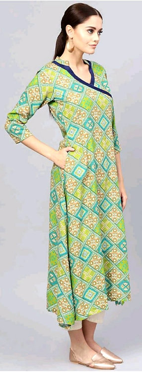 Heavy Rayon Two Pieces Design Kurti ( XXL )
