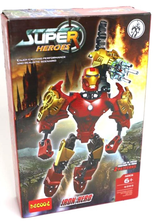 Iron hero and super hero ( can be pieced together to form 2 patterns )6+