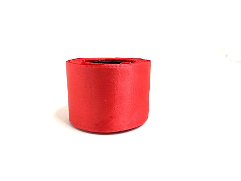 Satin Ribbon (red colour ) (2 inch thick ,10m length)