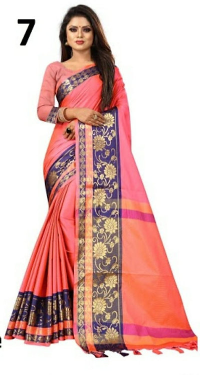 Aura silk saree with blouse
