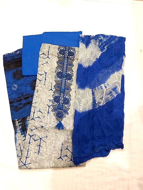 Pure Cotton Dress Material With Chiffon  Dupatta