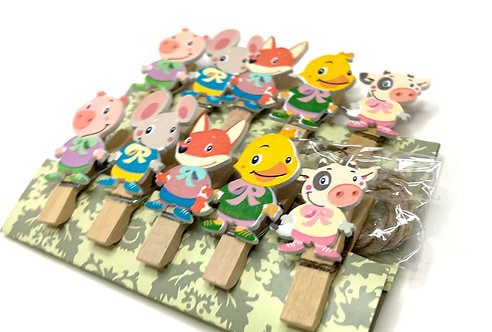 Decorative Wooden Clips