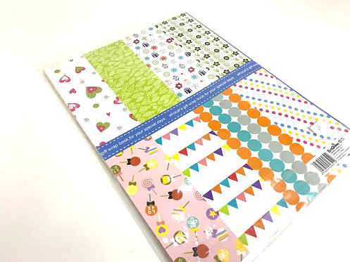 Printed Wrapping Paper Book ( 225 by 304 mm )