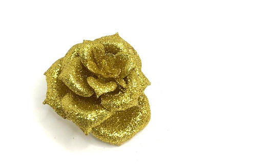 Decorative glitter flower