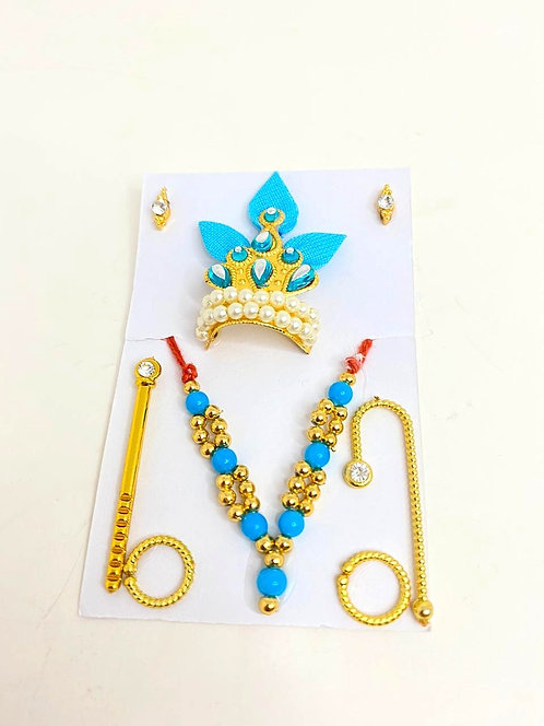 Mukut mala set for krishna ji