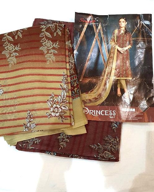 Pure Soft Cotton Dress Material With Chiffon  Dupatta