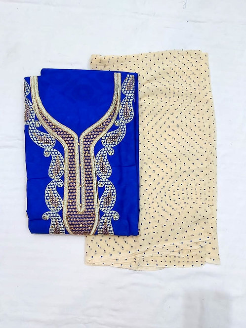 Cotton dress material with naveen dupatta
