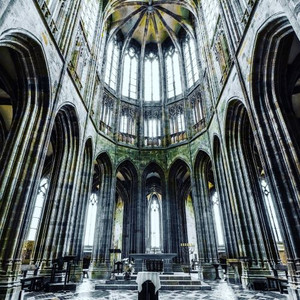 The beautiful abbey of the Mont Saint-Michel monastery
