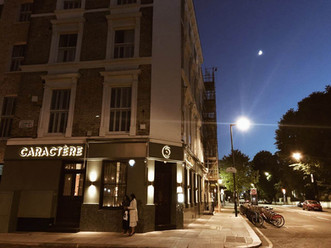 Caractere restaurant Notting Hill at night