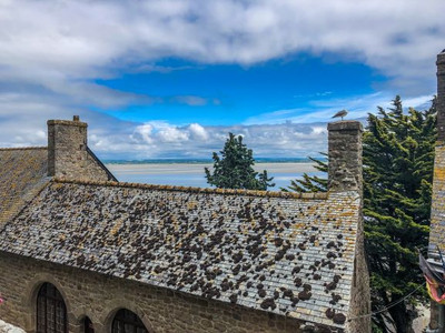View from the top of Mont Saint-Michel abbey and monastery