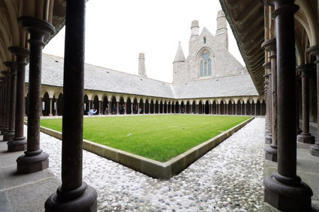Cloister in the Mont Saint-Michel abbey