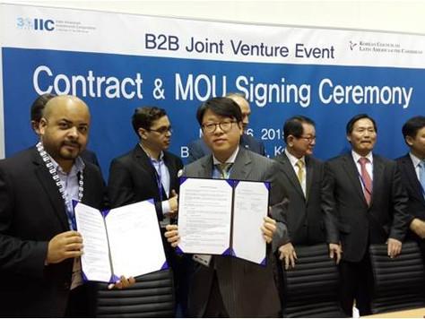 2015 IDB 총회 - IIC/KLAC B2B Joint Venture 협약식