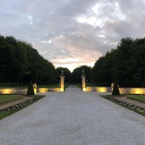 Entrance Gate to the Relais et Chateaux property Chateau d'Audrieu, France