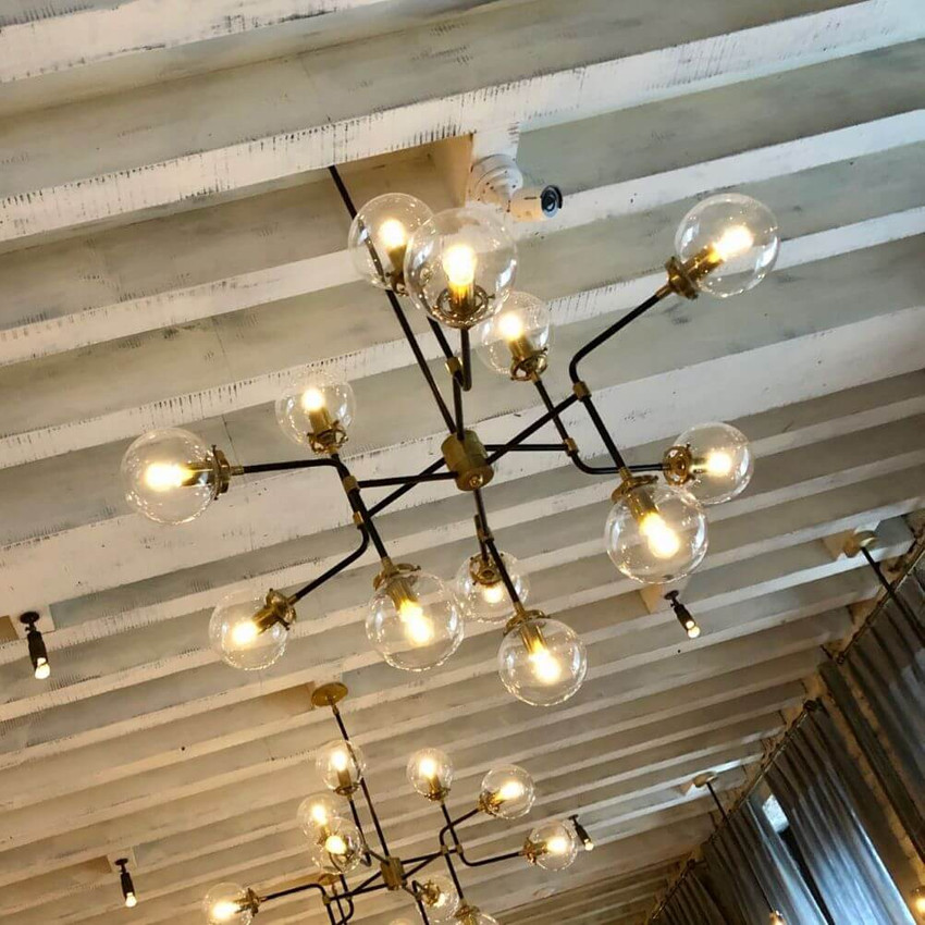 The lights at Caractere restaurant