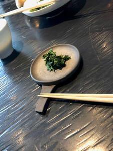Edible tea leaves at Sakurai tea experience in Tokyo